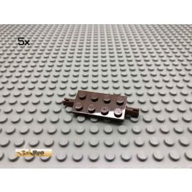 LEGO® 5Stk 2x4 Platte flache Achsen Brick Braun, Brown 30157 149