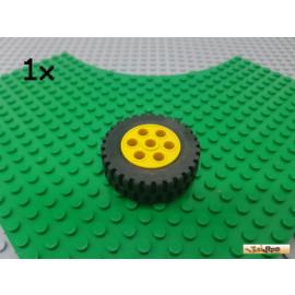 LEGO® 1Stk Reifen / Gummi mit Felge gelb 13x24