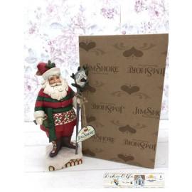 Britto Enesco Jim Shore Weihnachtsmann Santa Claus 6001469 Sammelfigur