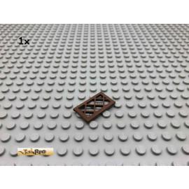 LEGO® 1Stk 1x2x3 Gitter Scheibe Brick Braun, Brown 123