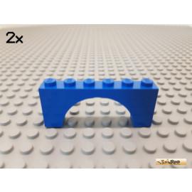 LEGO® 2Stk Bogen / Bogenstein / Fenster 1x6x2 blau 3307