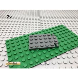 LEGO® 2Stk 4x6 Tür Falltür Platte Plate Basic Dunkel Grau, Dark Gray 92099