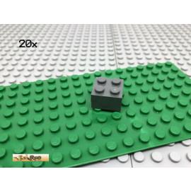 LEGO® 20Stk 2x2 Baustein Stein Basic Classic Dunkel Grau, Dark Gray 3003