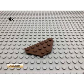 LEGO® 4Stk 3x6 Flügelplatte flach Brick Braun, Brown 2419 6