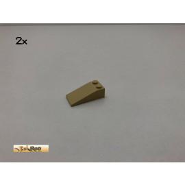 LEGO® 2Stk 2x4x1 Dachsteine Schrägstein Basic Brick Beige, Tan 30363 27