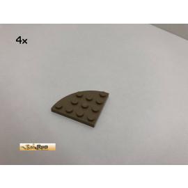 LEGO® 4Stk 4x4 Platte Ecke rund Brick Dunkelbeige, Dark Tan 30585 54