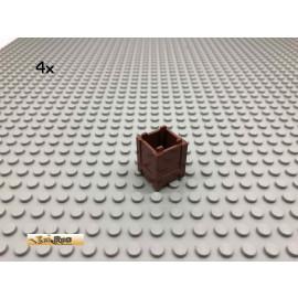 LEGO® 4Stk 2x2x2 Container Box Brick Rotbraun, Reddish Brown 61780 190