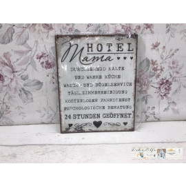 Blechschild Hotel Mama Service Vintage Landhaus