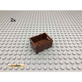 LEGO® 2Stk 3x4 Stapel Kiste Brick Rotbraun, Reddish Brown 30150 200
