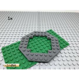 LEGO® 1Stk 10x10 Platte achteckig offen flach Dunkel Grau, Dark Gray 6063