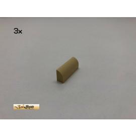 LEGO® 3Stk 1x4x1 Bogenstein Rundstein Basic Brick Beige, Tan 10314 ad