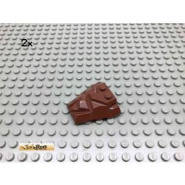 LEGO® 2Stk Keile Flügelplatten Brick Rotbraun, Reddish Brown 64867 136