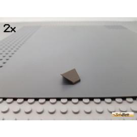LEGO® 2Stk Dachgiebel mit Spitz / Dachstein 1x2 alt-dunkelgrau 3049