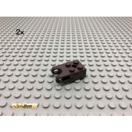 LEGO® 2Stk 2x2 mit Kugelgelenk Dunkelbraun, Dark Brown 92013 15