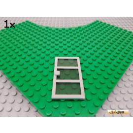 LEGO® 1Stk Tür mit Sprossen und Glas 1x4x6 alt-hellgrau 76041c02