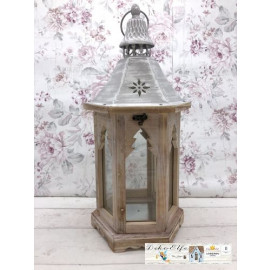 Gilde Laterne klein Windlicht Weihnachtsbaum Shabby Vintage Landhaus