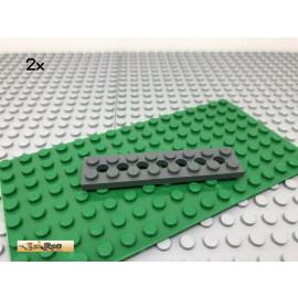 LEGO® 2Stk 2x8 Platte mit Löcher Technic Basic Dunkel Grau, Dark Gray 3738