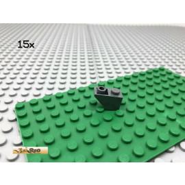 LEGO® 15Stk 1x2 Dachstein Negativ Dunkel Grau,Dark Gray 3665