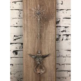 Dekohänger Schneeflocke Engel Schutzengel zum Hängen Nostalgisch Acryl Modell 2