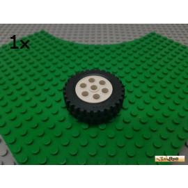 LEGO® 1Stk Reifen / Gummi mit Felge weiß 13x24