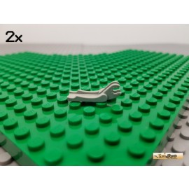 LEGO® 2Stk Greifer ohne Halterung / Schaufel alt-hellgrau 4221
