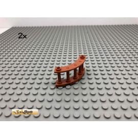 LEGO® 2Stk 4x4x2 Zaun halbrund Dunkelorange, Braun Orange 30056 33
