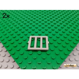 LEGO® 2Stk Gitter / Leiter 1x4x3 alt-hellgrau 6016