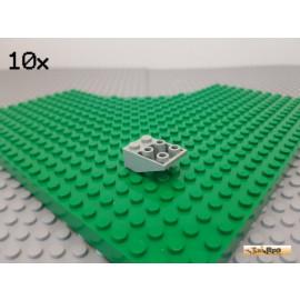 LEGO® 10Stk Dachstein / Schrägstein 2x3 negativ alt-hellgrau 3747