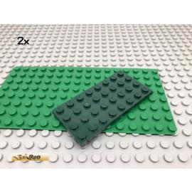 LEGO® 2Stk 4x8 Platte Plate Dunkelgrün,Dark Green 3035 108