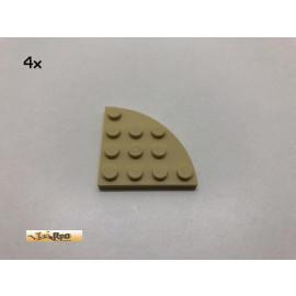 LEGO®  4Stk 4x4 Platte Viertelkreis Basic Brick Beige, 30565 be