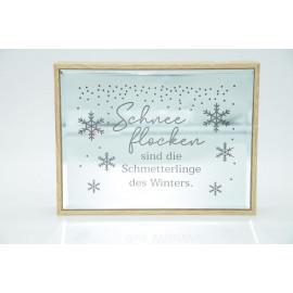Gilde Weihnachtsspiegel mit Spruch und Beleuchtung Spiegel Dekoration Schneeflocken