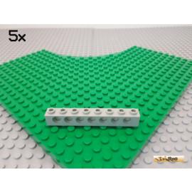 LEGO® 5Stk Technic Lochstein / Lochbalken 1x8 alt-hellgrau 3702