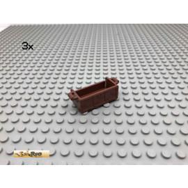LEGO® 3Stk Schatzkiste ohne Deckel Brick Rotbraun, Reddish Brown 4738 195