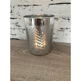 Gilde Windlicht weihnachtlich Teelicht Kerzenhalter Glas Weihnachtsdeko