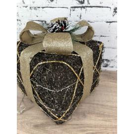 Lampe Nachtlicht Geschenk schwarz weihnachtlich Weihnachtsdekoration klein