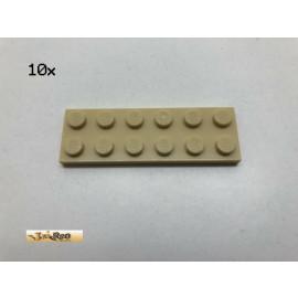 LEGO® 10Stk 2x6 Platte Beige, Tan 3795 co