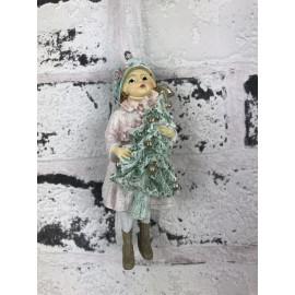 Weihnachtsdekoration Winterkind zum hängen weihnachtlich Skulptur Figur