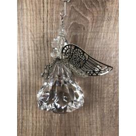 Dekohänger Stern Engel groß Schutzengel zum Hängen Nostalgisch Acryl Modell 1