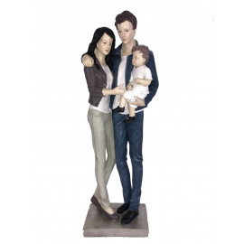 Gilde Casablanca Skulptur Figur Dekoration Familie Statue