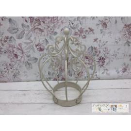 Deko Krone für Garten Blumenbeet Tischdeko Shabby Vintage