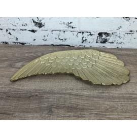 Tischdekoration Schale Engel Flügel links klein Teller Aluminium