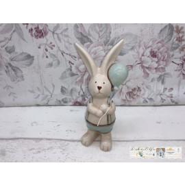 Deko Osterhase mit Lufballon Ostern Hase Frühling