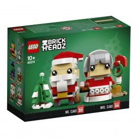 LEGO® Brick Headz Mr. & Mrs. Santa Claus